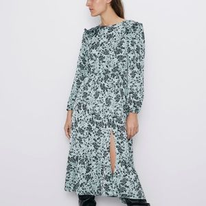 Long Sleeve Silk Dress